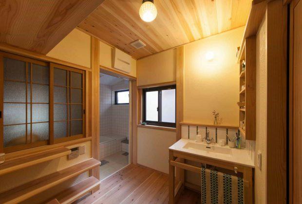 古民家リノベーション木造建築家洗面脱衣室