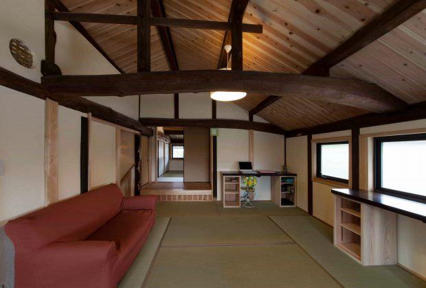 古民家リノベーション木造建築家と梁2階